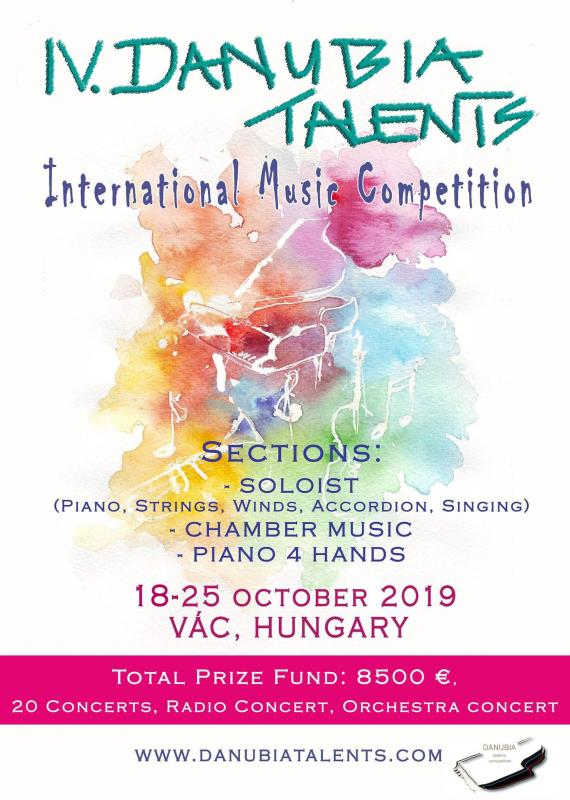 4. Danubia Talents International Music Competition 18.10.2019-25.10.2019