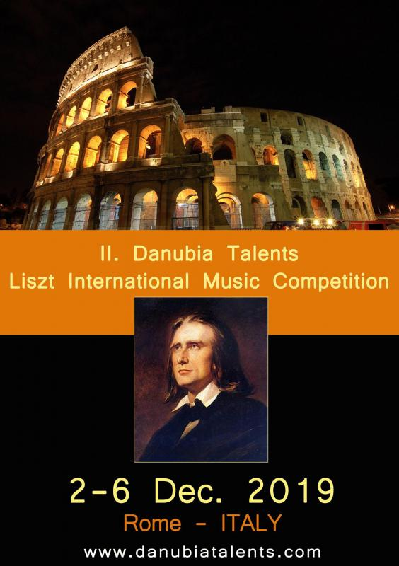 II. Danubia Talents Liszt International Music Competition 2-6 December 2019