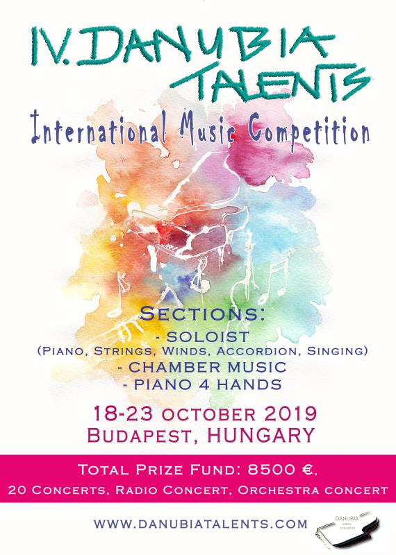 4. Danubia Talents International Music Competition 18.10.2019-23.10.2019