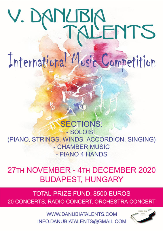 V. Danubia Talents International Music Competition