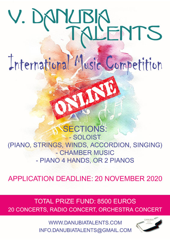Danubia Talents International Music Competition ONLINE 2020