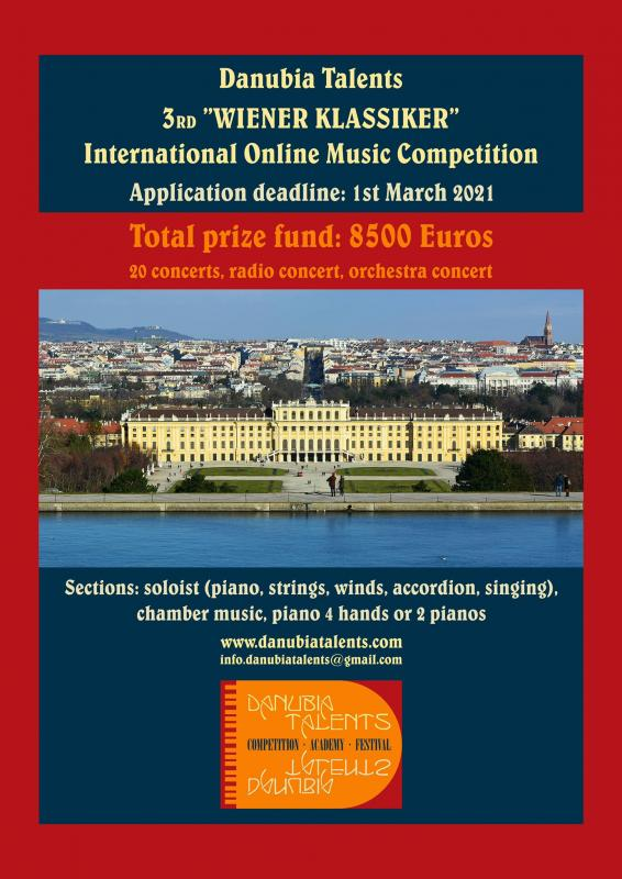 III. Wiener Danubia Talents International Music Competition ONLINE 2021